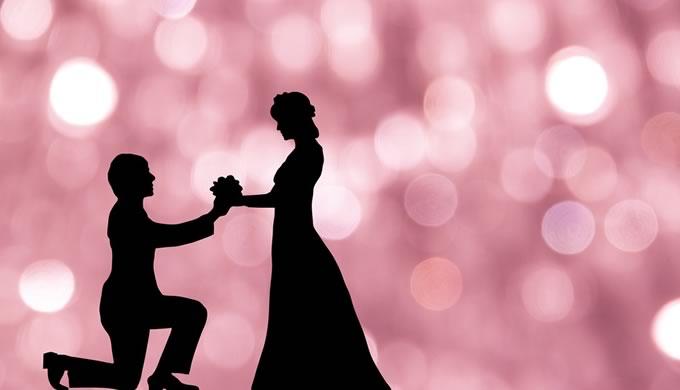 プロポーズの影絵